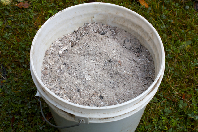 Wood Ash for increasing pH