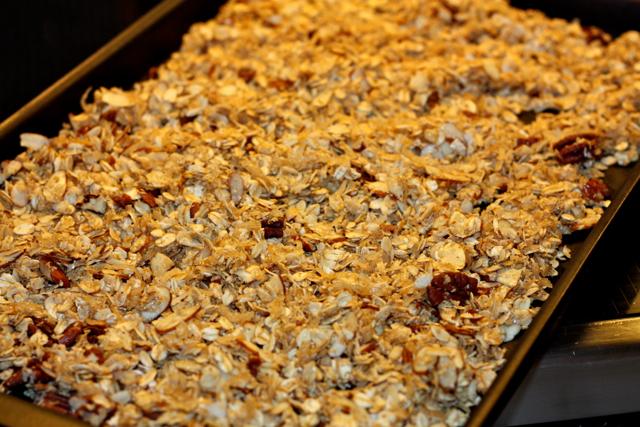 Uncooked granola