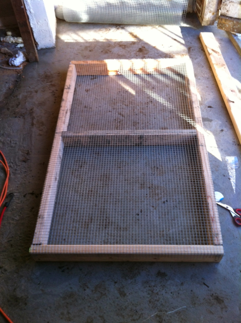 "1/2"" hardware cloth over grazing frame"