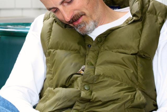 Scott has two peeps in his vest